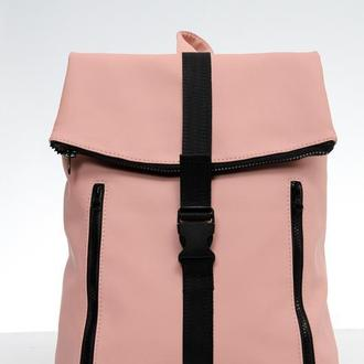 Женский пудровый рюкзак для прогулок