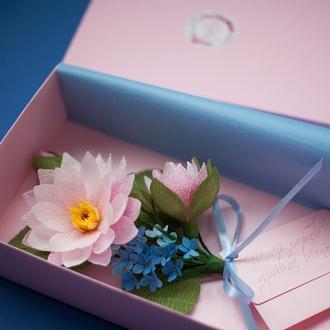 Свадебная открытка-конверт ручной работы