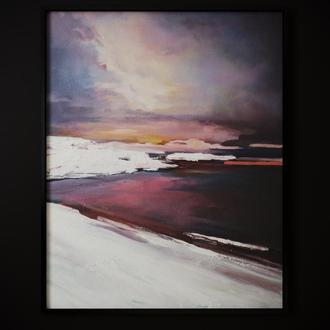 "Картина маслом ""Daylight"" 30х40 холст, Абстракция"