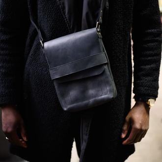 Мужская сумка. Мужская сумка на плечо. Кожаная мужская сумка. Повседневная кожаная сумка
