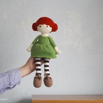 Іграшка м'яка в'язана лялька  Lovely подарунок дівчинці