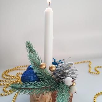 Подсвечник для праздничного декора