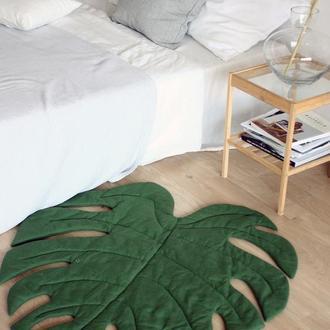 Ковер одеяло в виде листа монстеры