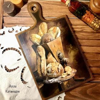 Кухонная доска «Ароматный хлебушек»