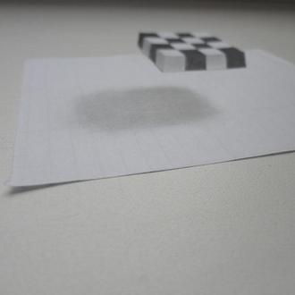 3D малюнок, оптична ілюзія, графіка, об'ємний малюнок, 3D рисунок, оптическая иллюзия, графика