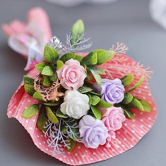 Букет из мыла ручной работы Love in Spring Романтичные розы