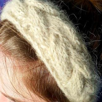Повязка на голову собачья шерсть