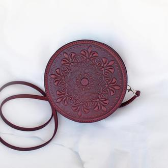 круглая женская сумка Орео