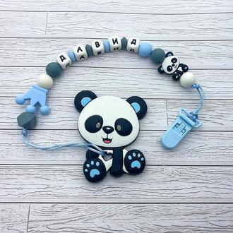 Грызунок Панда с именным держателем