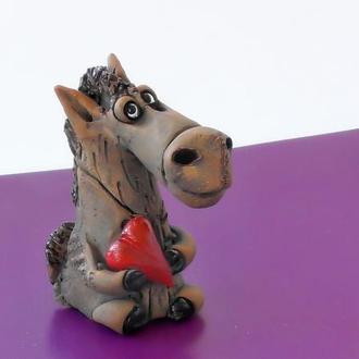 Фигурка в виде лошадки фигурка коня