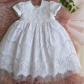 Шикарное платье для таинства крещения или дня рождения