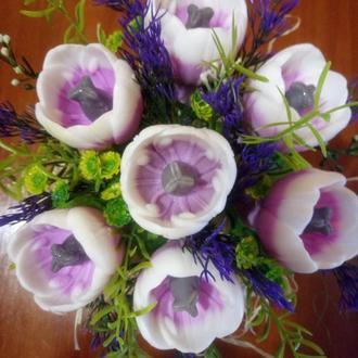 Сувенирное мыло букет тюльпанов