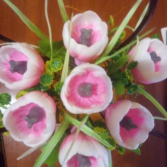 Сувенирное мыло букет весенних тюльпанов