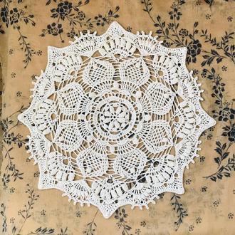 Красивая салфетка, рельефная салфетка, декор для дома, ажурная салфетка