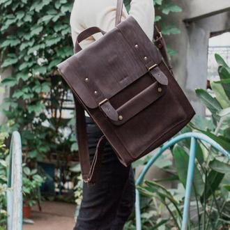 Кожаный городской рюкзак. 030102L
