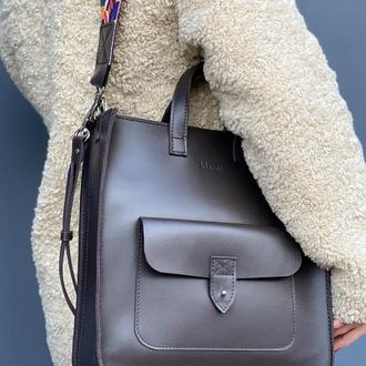 Рюкзак Flagman коричневый бренд klasni