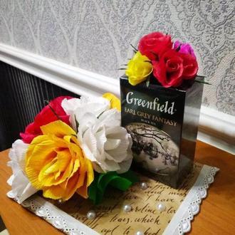 Идеальный презент к  8 марта. Чай с розами (с конфетами)
