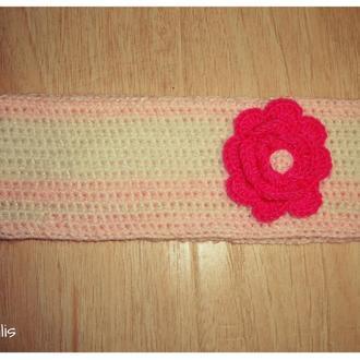 Новая нежная повязочка ручной работы для девочки, на 2-4 года
