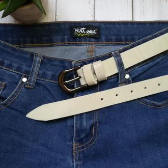 Milka25 женский кожаный ремень светлый кожанный пояс