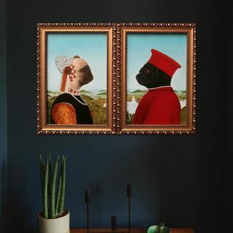 Портреты герцога и герцогини Мопсинских