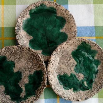 Блюдце глиняне