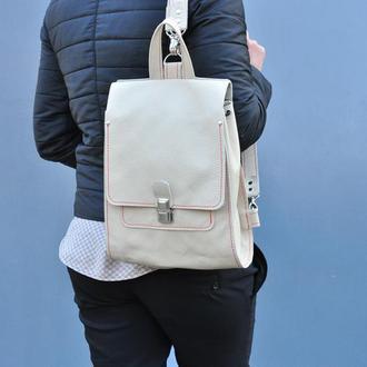 Кожаный рюкзак с отстёгивающимися ручками