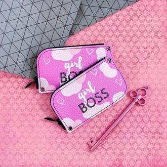 Ключница Girl Boss розовый