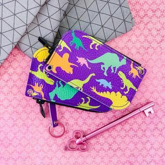 Ключница Dinosaurs фиолетовый