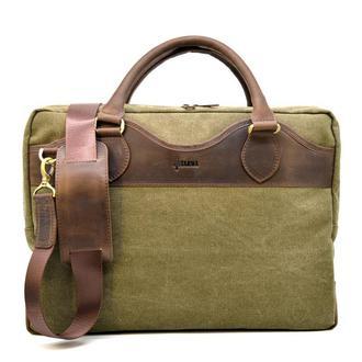 Мужская сумка микс канвас+натуральная кожа RH-8839-4lx TARWA