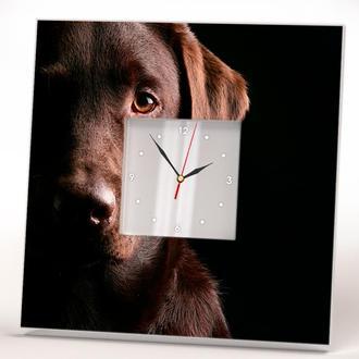 """Стильные часы с собакой """"Лабрадор"""""""
