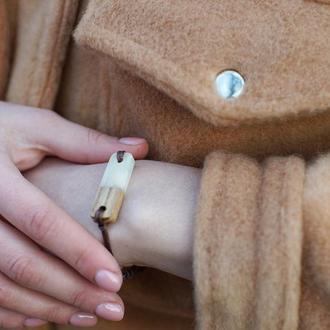 """Бласлет """"Белый перламутр"""", для мужчин, для женщин, браслет на руку унисекс, подарок на 8 марта"""