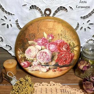 Кухонная доска «Аромат роз»