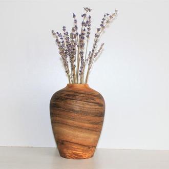 Декоративна ваза з дерева