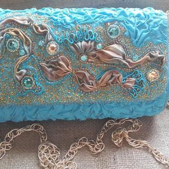 Сумка-клатч Морская бездна
