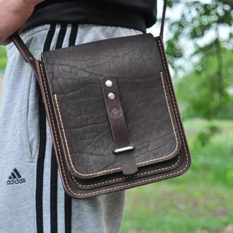Кожаная сумка через плечо для всего необходимого
