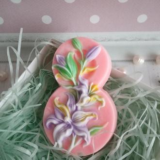 Мыло Восьмёрка с цветами
