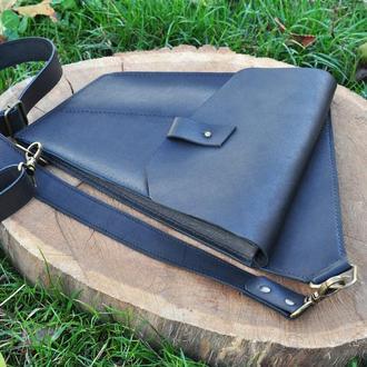 Необычная кожаная сумка через плечо