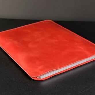 Чехол для MacBook Винтажная кожа цвет Красный