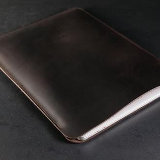 Чехол для MacBook Винтажная кожа цвет Шоколад