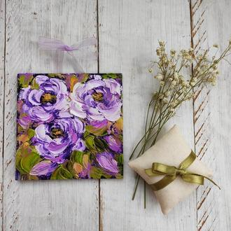Картина миниатюра розы