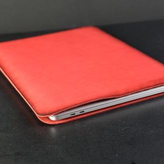 Чехол для MacBook Кожа Итальянский краст цвет Красный