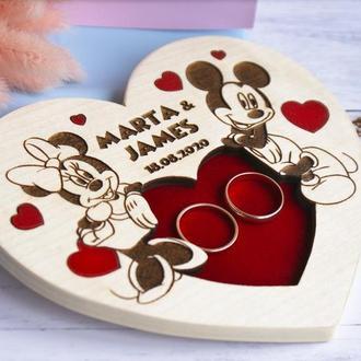 """Подсавка для обручальных колец """"Mickey & Minnie"""""""