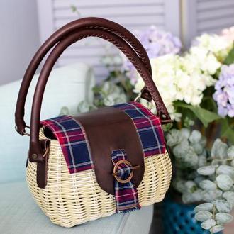 Плетеная сумка - саквояж