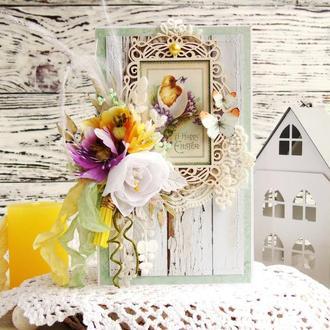 Весеняя пасхальная открыточка