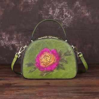"""Кожаная женская сумка """"Смайл"""""""