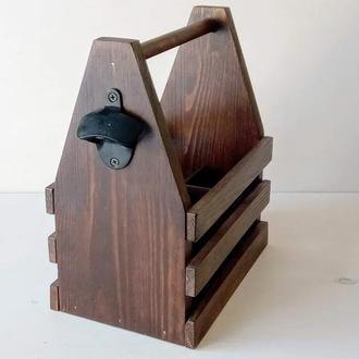Ящик деревянный пивной для 6 бутылок