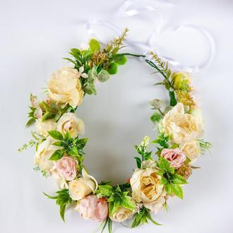 Шикарный венок для празднования свадьбы