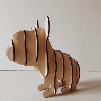 3Д модель собака Бульдог