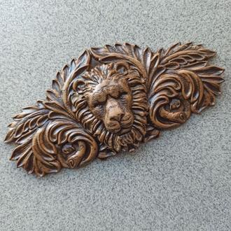 """Резной декор из дерева. """"Виньетка Лев"""""""