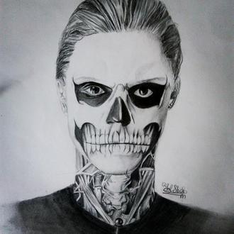 Картина графика 《La mort》